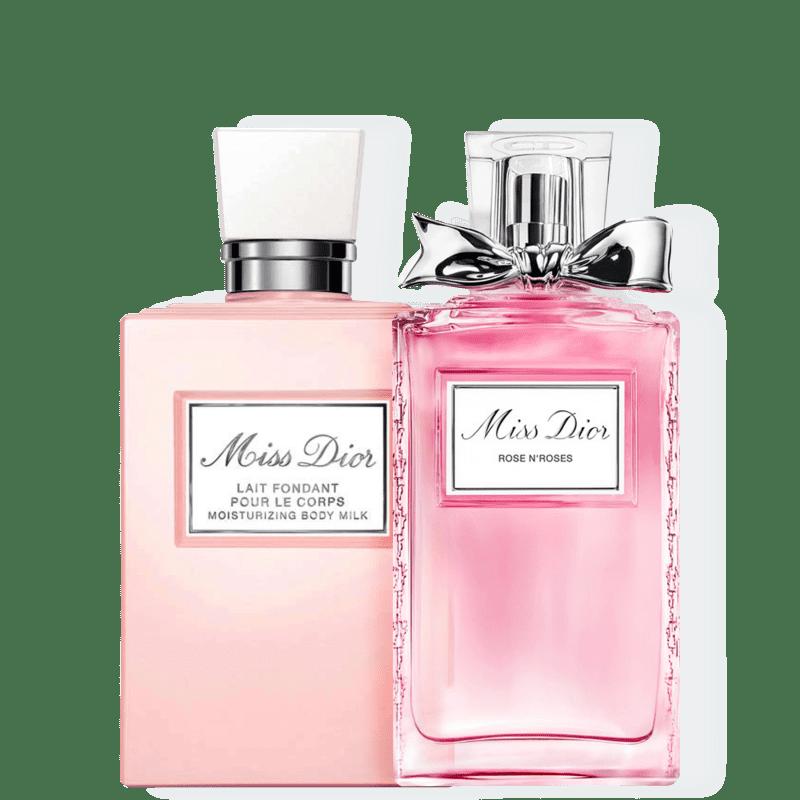 Kit Miss DIOR Rose N'Roses Lait Dior Feminino - Eau de Toilette 100ml + Leite Hidratante 200ml