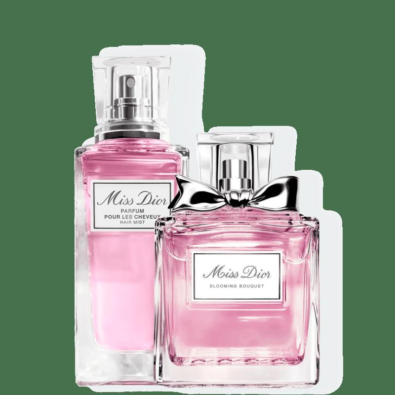 Kit Miss DIOR Blooming Bouquet Hair Medium Dior Feminino - Eau de Toilette 30ml + Perfume para Cabelo 30ml