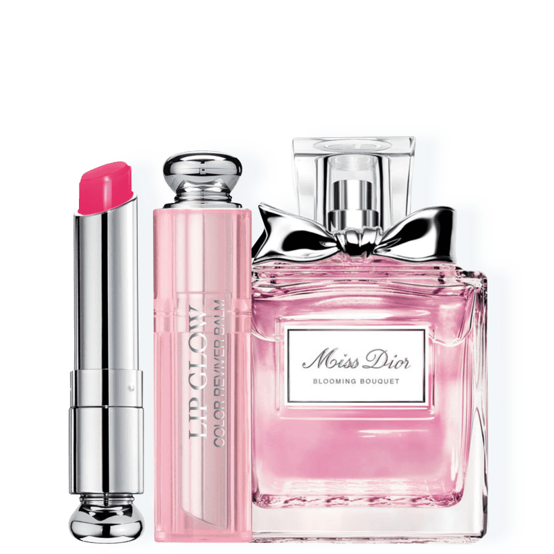 Kit Dior Miss DIOR Blooming Bouquet Feminino Eau de Toilette 30ml + Bálsamo Labial Raspberry 3,5g