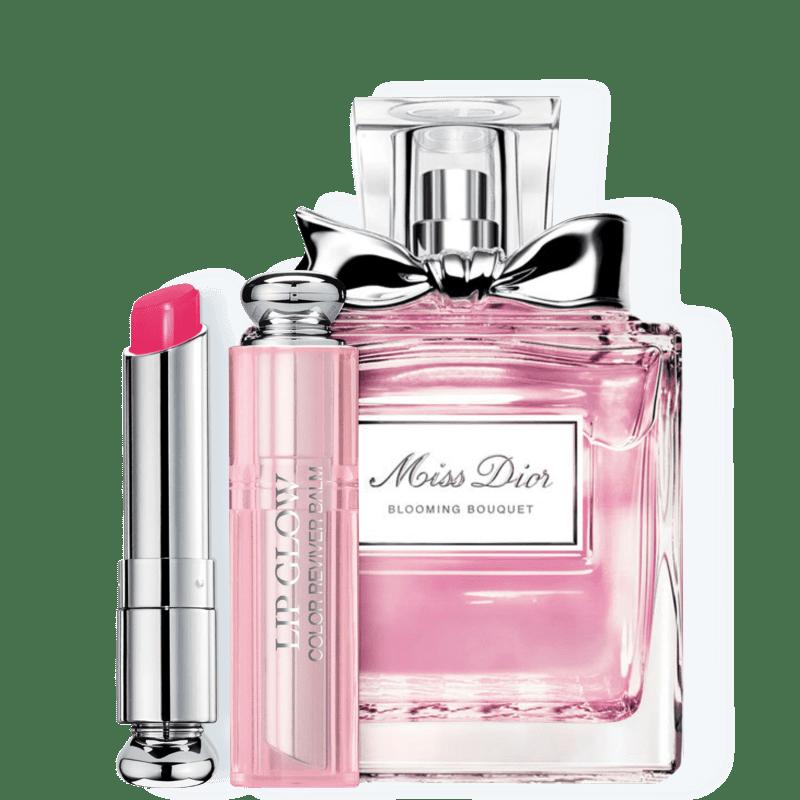 Conjunto Dior Miss DIOR Blooming Bouquet Raspberry Feminino - Eau de Toilette 100ml + Bálsamo Labial 3,5g