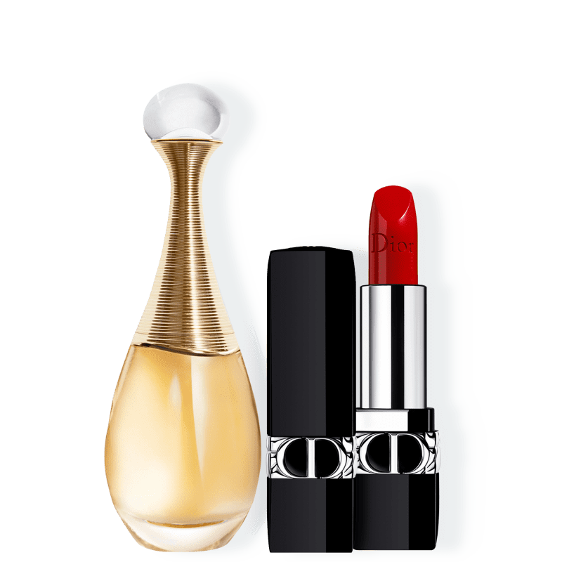 Kit J'adore Satin Small Dior Feminino - Eau de Parfum 30ml + Batom 3,5g