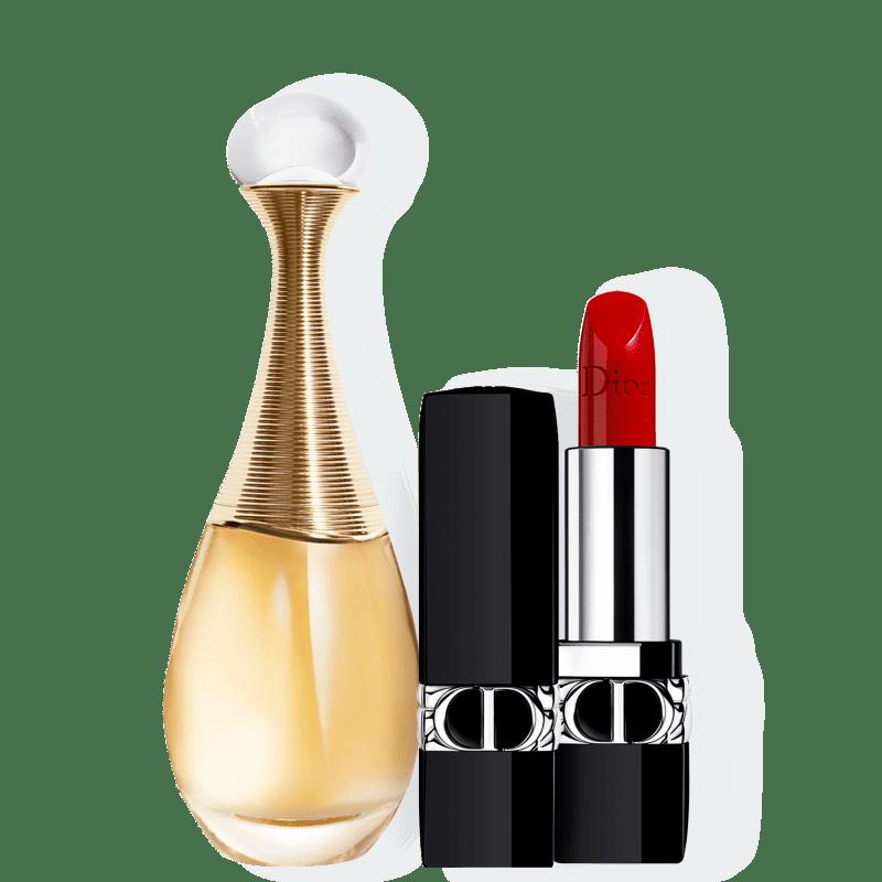 Conjunto J'adore Satin Medium Dior Feminino - Eau de Parfum 50ml + Batom 3,5g