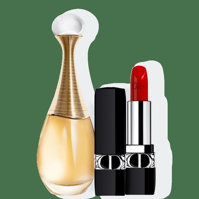 Kit J'adore Satin Dior Feminino - Eau de Parfum 100ml + Batom 3,5g