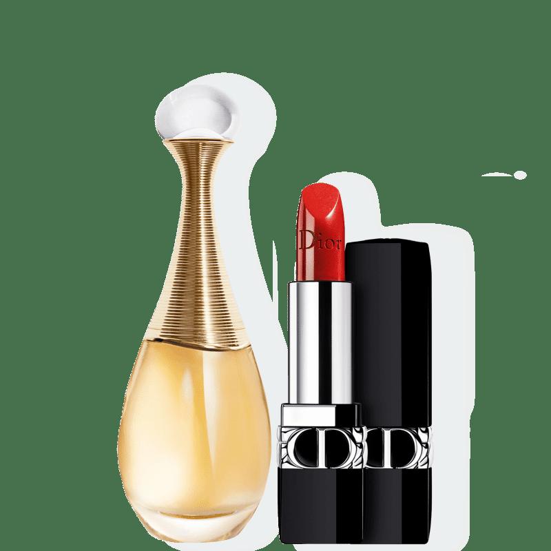 Kit J'adore Metallic Small Dior Feminino - Eau de Parfum 30ml + Batom 3,5g