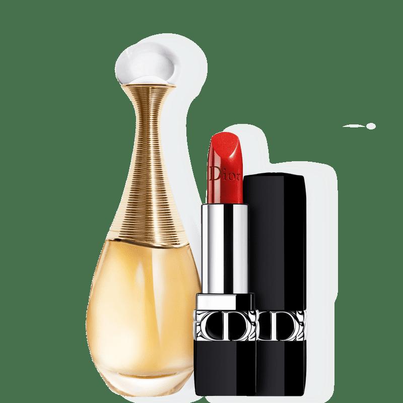Kit J'adore Metallic Medium Dior Feminino - Eau de Parfum 50ml + Batom 3,5g
