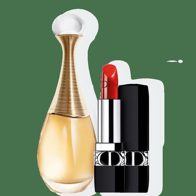 Kit J'adore Metallic Dior Feminino - Eau de Parfum 100ml + Batom 3,5g