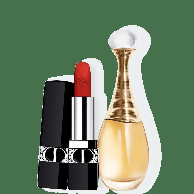 Conjunto J'adore Matte Small Dior Feminino - Eau de Parfum 30ml + Batom 3,5g