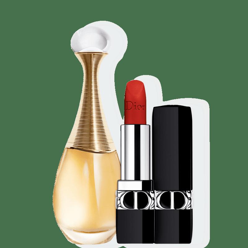 Kit J'adore Matte Medium Dior Feminino - Eau de Parfum 50ml + Batom 3,5g