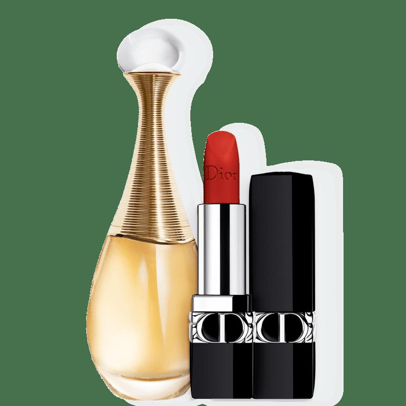 Conjunto J'adore Matte Dior Feminino - Eau de Parfum 100ml + Batom 3,5g