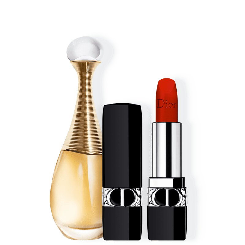 Kit J'adore Velvet Small Dior Feminino - Eau de Parfum 30ml + Batom 3,5g