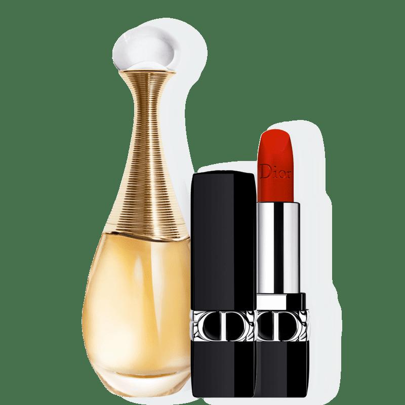 Conjunto Dior J'adore Velvet Feminino - Eau de Parfum 100ml + Batom Aveludado 3,5g