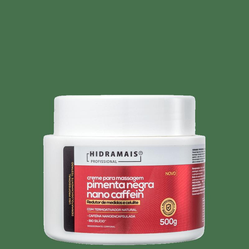 Hidramais Pimenta Negra Nano Caffein - Creme de Massagem 500g