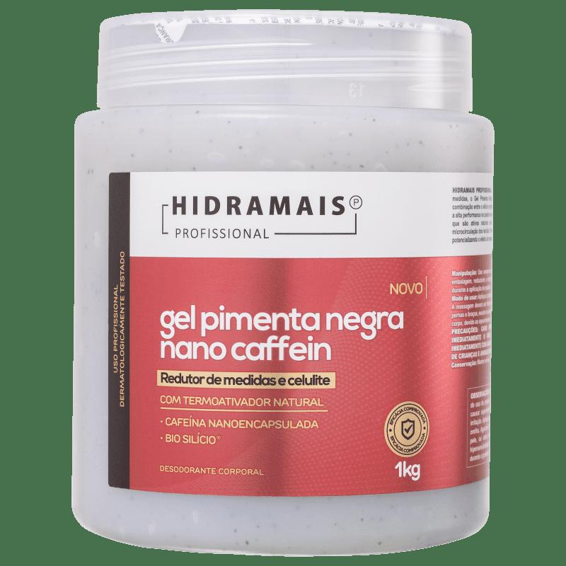 Hidramais Pimenta Negra Nano Caffein - Gel de Massagem 1kg