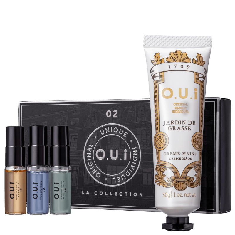 Conjunto La Collection 02 O.U.i Masculino - Eau de Parfum 3x5ml + Creme Hidratante para as Mãos 30g