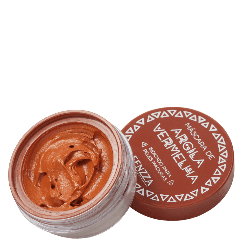 Fenzza Make Up Argila Vermelha - Máscara Facial 30g