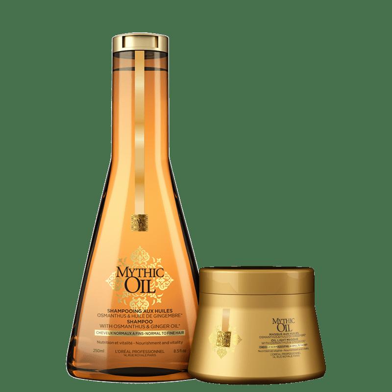Kit L'Oréal Professionnel Mythic Oil Cabelos Finos Duo (2 Produtos)