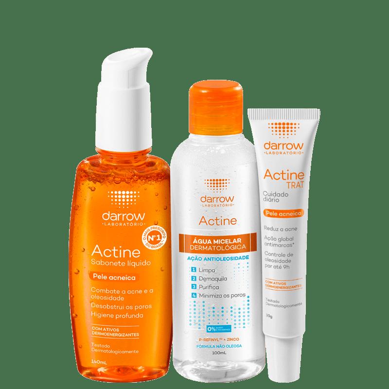 Kit Darrow Actine Tratamento Acne (3 Produtos)