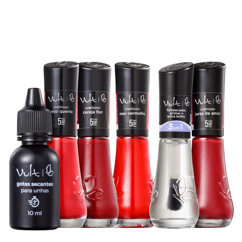 Kit Vult 5Free Vermelhos (6 Produtos)