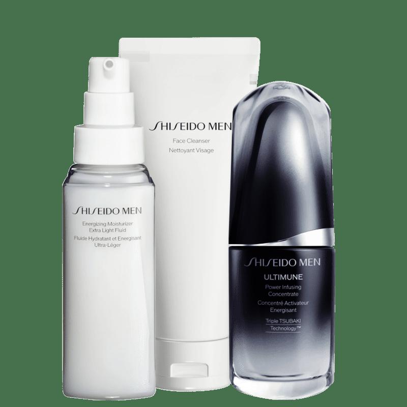 Kit Shiseido Men Cleanser Concentrate (3 Produtos)