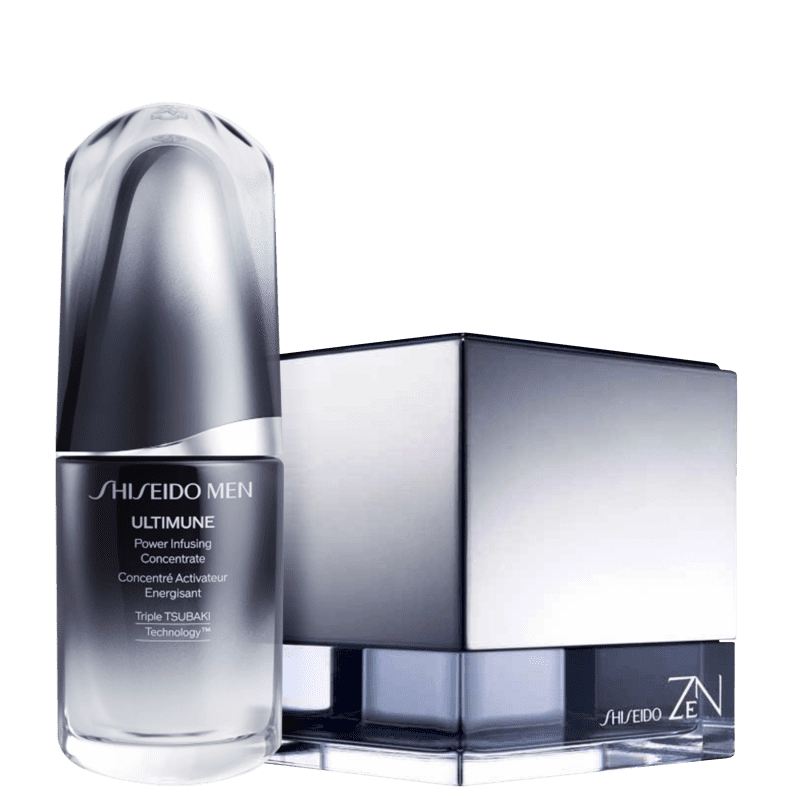 Conjunto Zen For Men Shiseido Masculino - Eau de Toilette 100ml + Sérum Facial 30ml