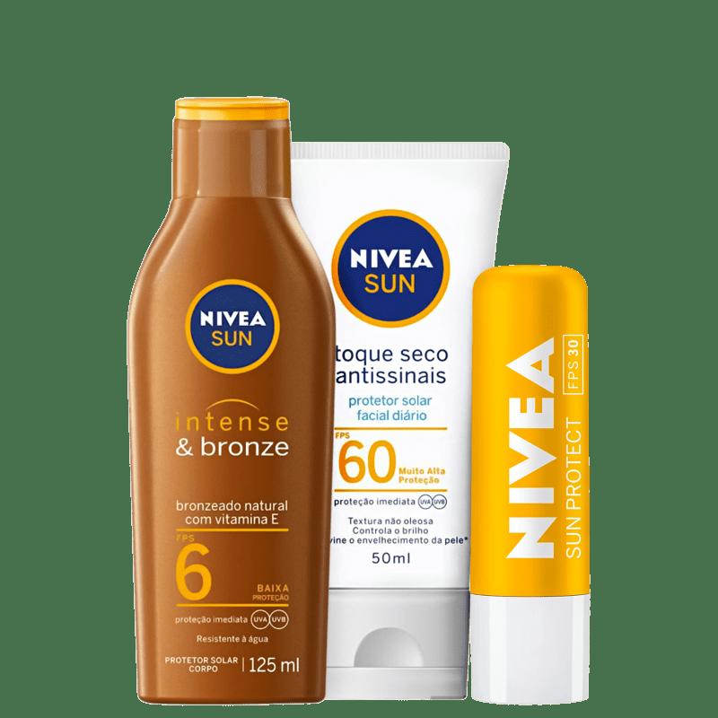 Kit NIVEA Intense Bronze & Antissinais (3 Produtos)