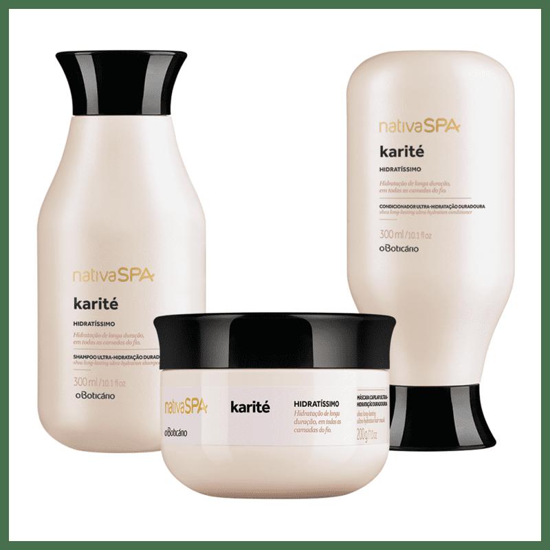 Combo Nativa SPA Karité: Shampoo + Condicionador + Máscara Capilar