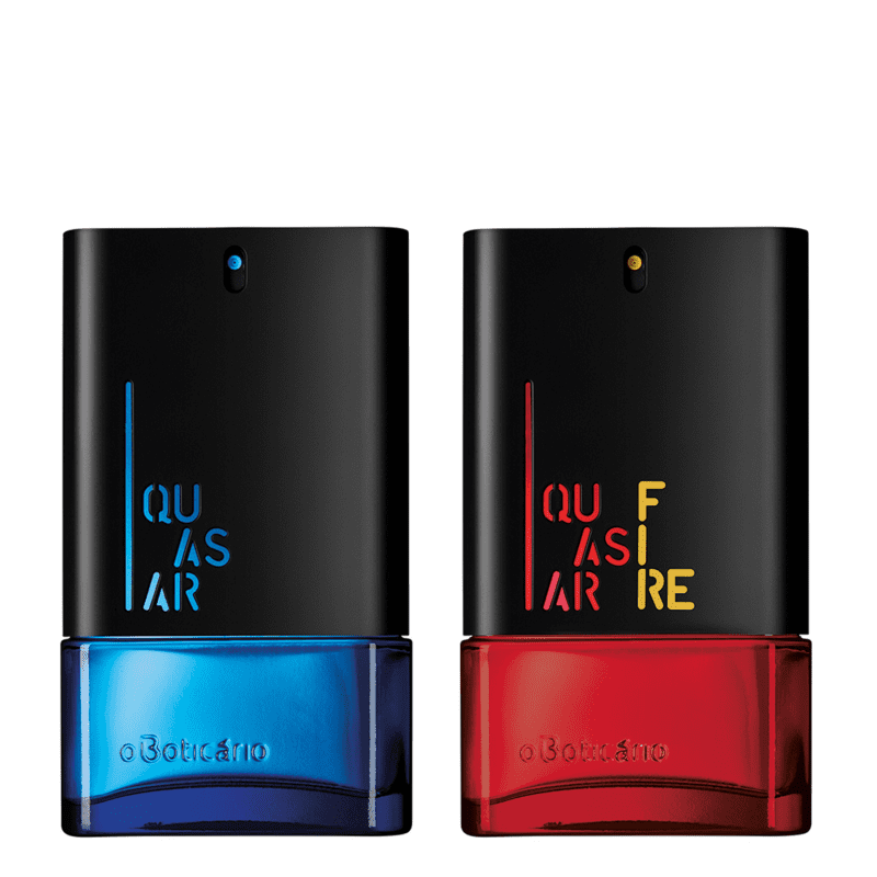 Combo Perfumaria Quasar: Quasar Desodorante Colônia 100ml + Quasar Fire Desodorante Colônia 100ml