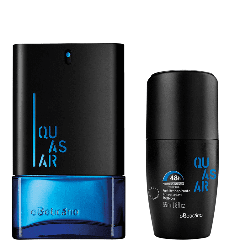 Combo Quasar: Quasar Desodorante Colônia 100ml + Desodorante Roll On 55ml