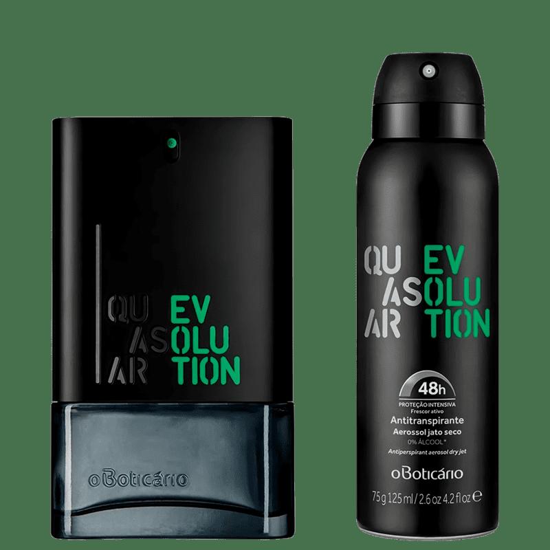 Combo Quasar Evolution: Des. Colônia + Desodorante Aerosol