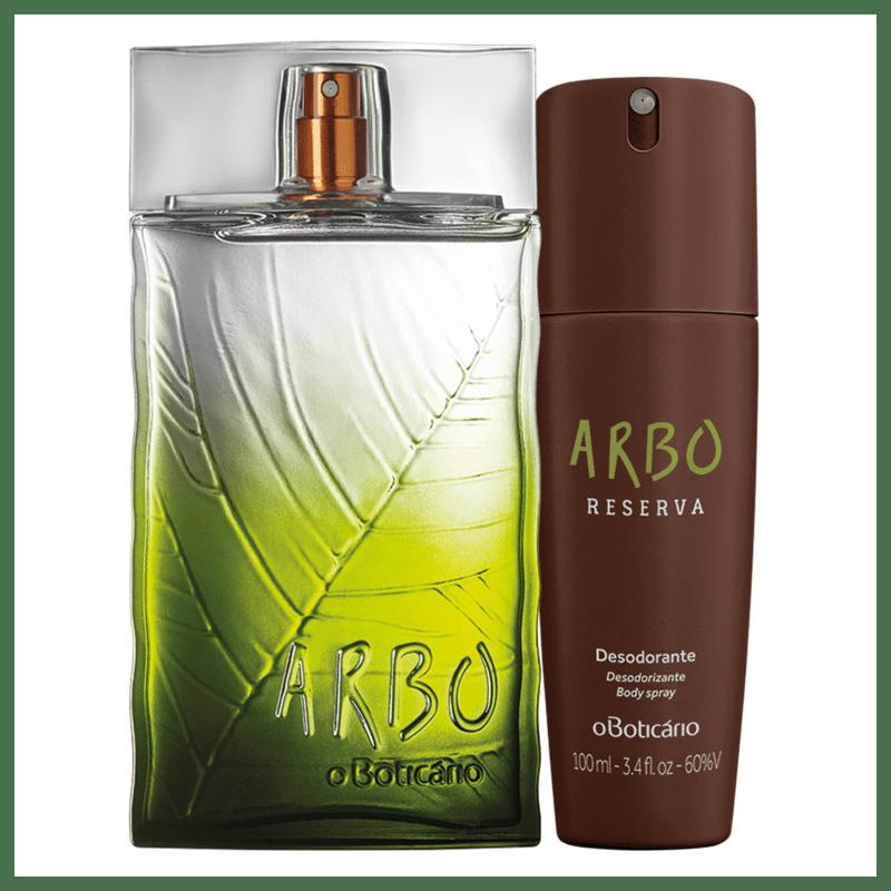 Combo Arbo Reserva: Desodorante Colônia 100ml + Desodorante Body Spray 100ml