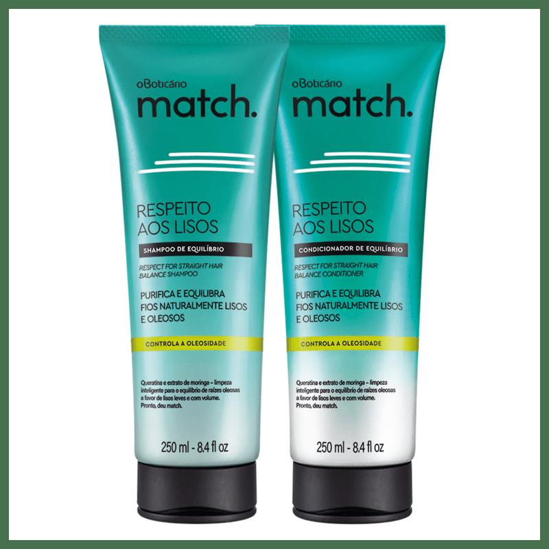 Combo Match Respeito aos Lisos Naturais: Shampoo Equilíbrio + Condicionador Equilíbrio