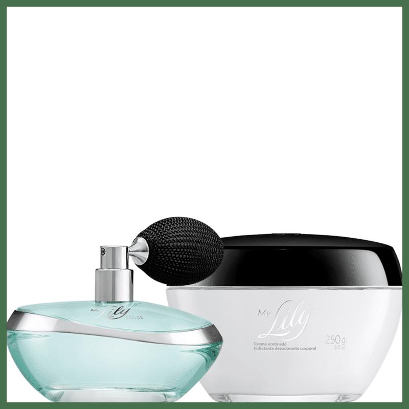 Combo My Lily: Eau de Parfum + Creme Acetinado Hidratante Desodorante Corporal