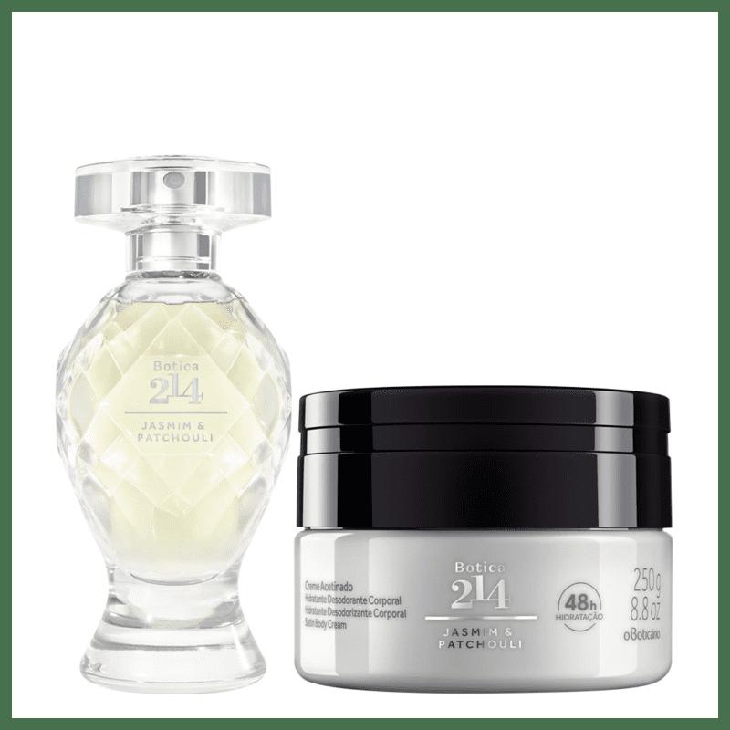 Combo Botica 214 Jasmim & Patchouli: Eau De Parfum 75ml + Creme Acetinado Desodorante Hidratante 250g