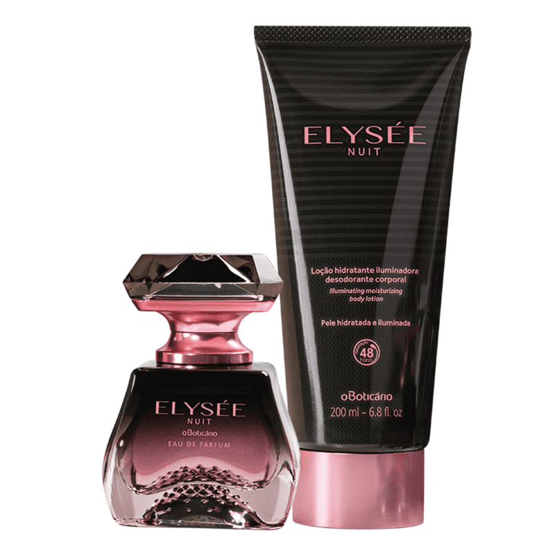 Combo Elysée Nuit: Eau De Parfum 50ml + Loção Desodorante Iluminadora 200ml