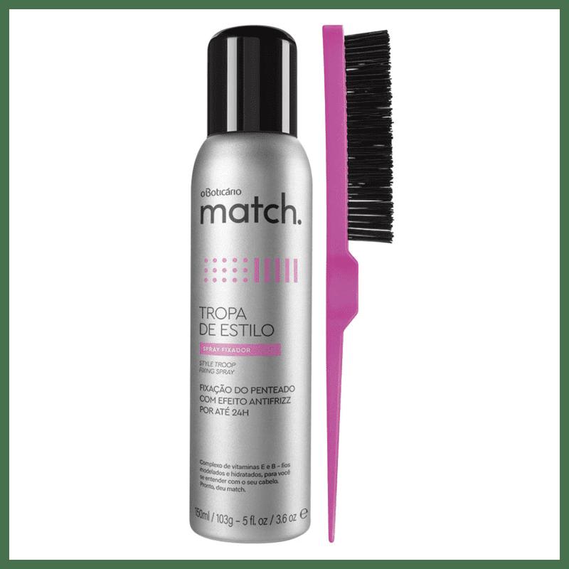 Combo Match Acabamento: Escova para Acabamento + Spray Fixador