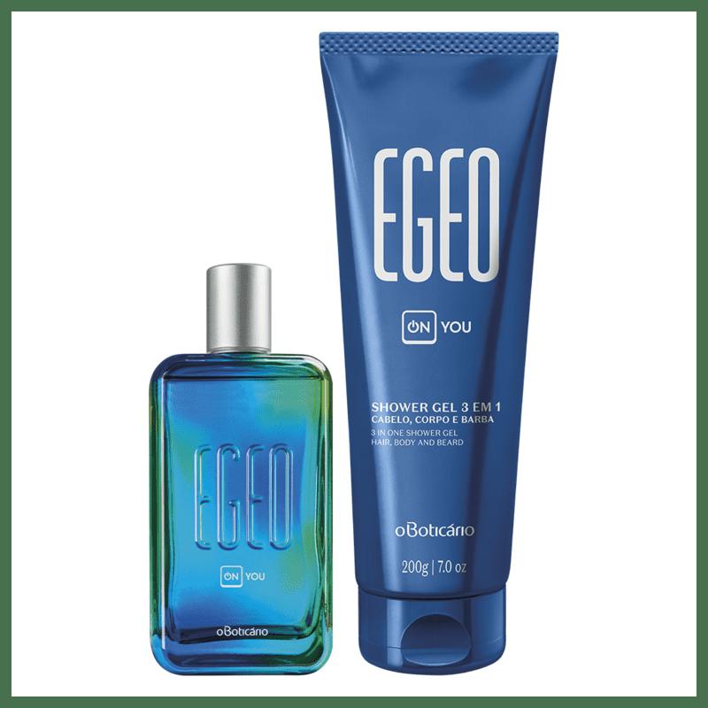 Combo Egeo On You: Desodorante Colônia 100ml + Shower Gel Cabelo, Corpo e Barba 200g