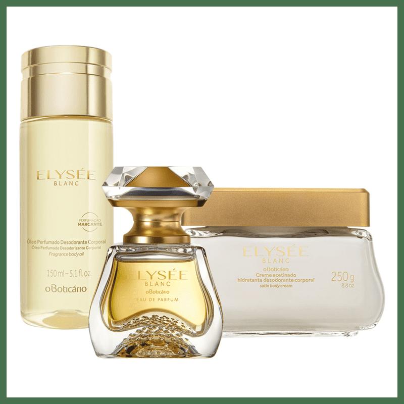 Combo Elysée Blanc: Eau de Parfum + Creme Acetinado Desodorante + Óleo Desodorante Corporal