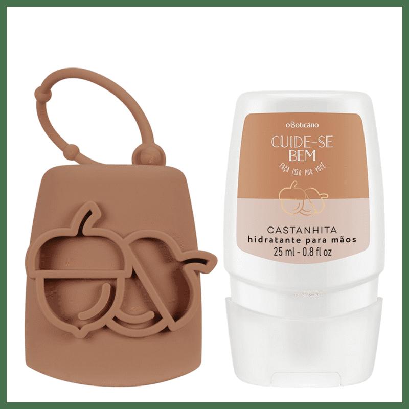 Combo Cuide-se Bem Castanhita: Creme Desodorante Mãos + Capinha