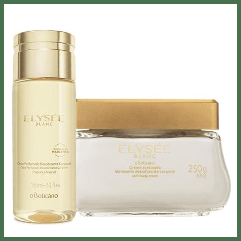 Combo Elysée Blanc: Creme Acetinado Hidratante + Óleo Desodorante Corporal