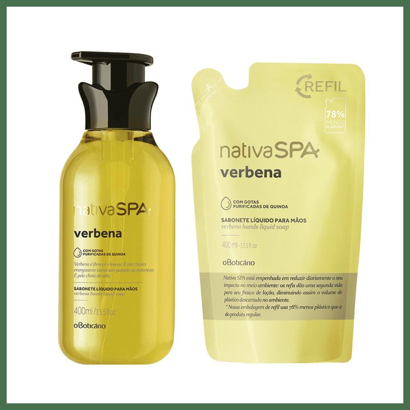 Combo Nativa Spa Verbena: Sabonete Líquido Para Mãos + Refil Sabonete Líquido Para Mãos