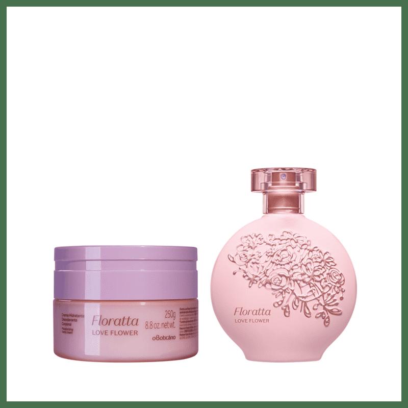 Combo Floratta Love Flower: Desodorante Colônia 75ml + Creme Desodorante Hidratante 250g