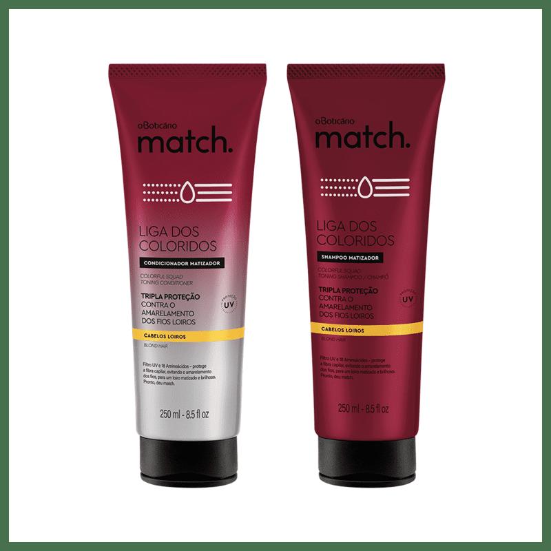 Combo Match Matizador Loiros: Shampoo, 250ml + Condicionador 250ml