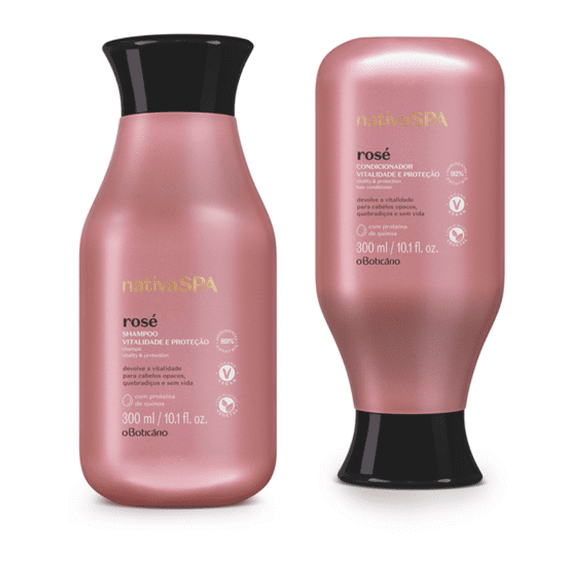 Combo Nativa Spa Rosé: Shampoo, 300 ml + Condicionador, 300 ml