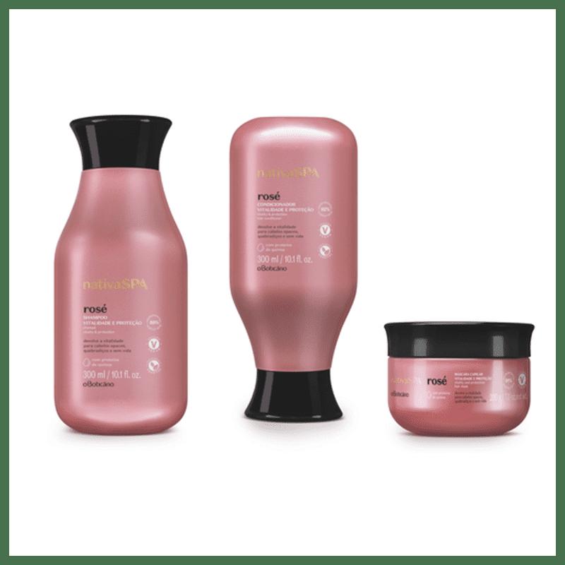 Kit o Boticário Nativa Spa Trio Rosé (3 produtos)