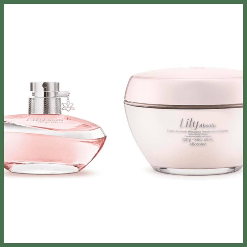 Combo Lily Absolu: Eau De Parfum, 75 ml + Creme Acetinado Hidratante Desodorante Corporal 205g