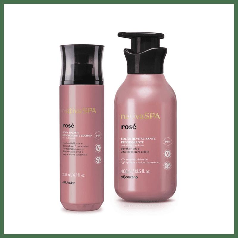 Combo Nativa Spa Rosé : Loção 400ml + Body Splash