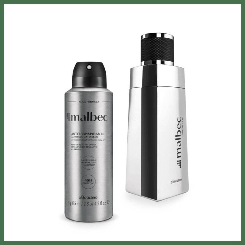 Combo Malbec Magnetic: Desodorante Colônia 100ml + Antitranspirante Aerossol 75g
