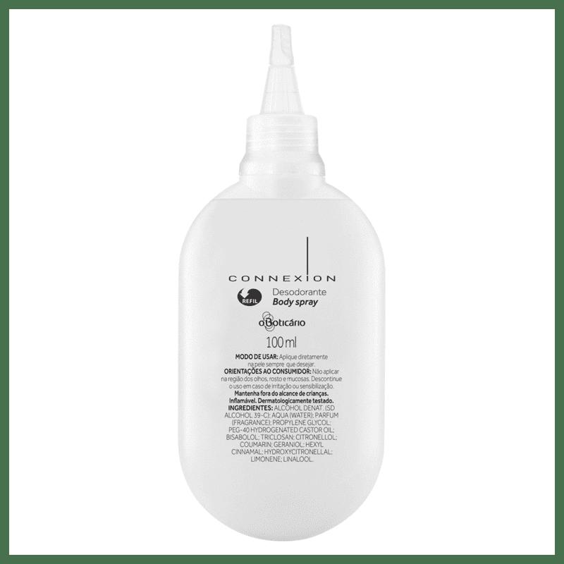 Refil Desodorante Body Spray Connexion, 100ml