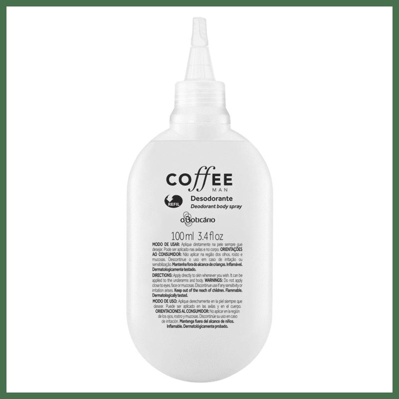 Refil Desodorante Body Spray Coffee Man, 100ml