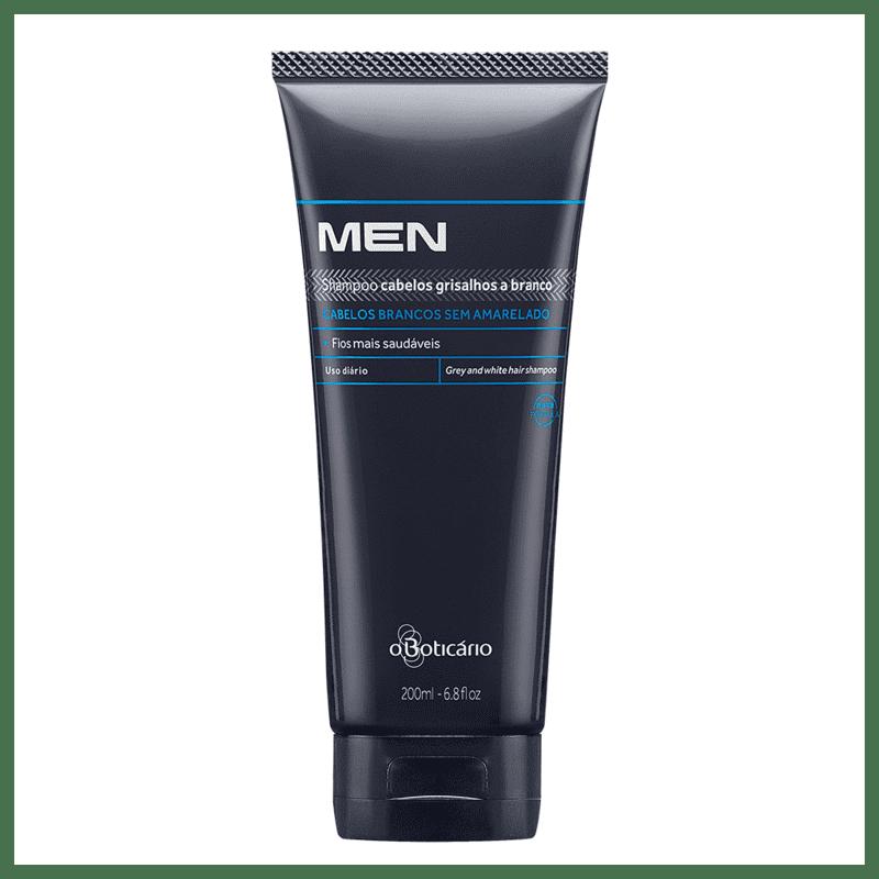 Shampoo para Cabelos Brancos e Grisalhos MEN, 200ml